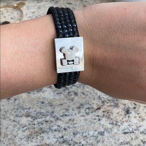 Mickey Mouse bracelet studded black and silver